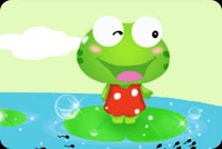 Happy Frog Background