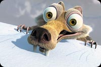 Animal email backgrounds. Ice Age Scat