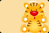 Animal email backgrounds. Baby Tiger