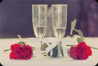 Champagne & Roses For Wedding Anniversary Background