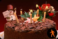 Animated Chocolate Birthday Cake With Candles Background