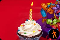 Animated Birthday Cupcake Background