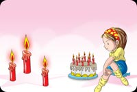 Birthday email backgrounds. Cute Birthday Girl