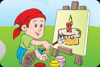 Let's Draw Your Birthday Cake Background