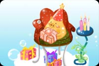 Happy Birthday Cute Little Pig Background