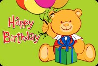 Happy Birthday Cute Teddy Bear Background