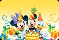 Disney Characters Birthday Party Background