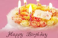 Romantic Birthday Cake Background