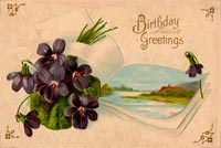 Vintage Birthday Greetings Background