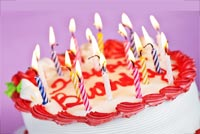 Birthday Cake & Candles Background