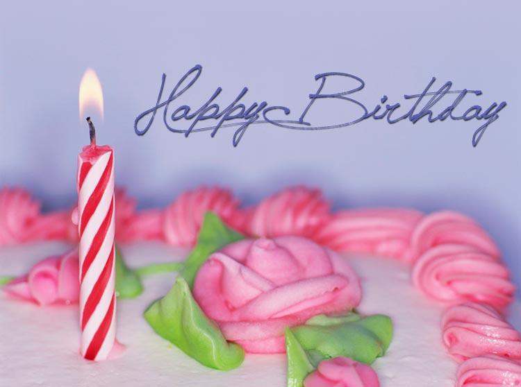 Birthday email stationery stationary Girly Birthday Cake