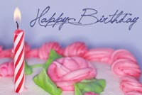 Girly Birthday Cake Background