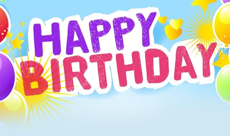 Birthday email stationery stationary Happy Birthday Balloons