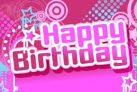 Birthday email backgrounds. Pink Happy Birthday