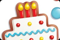 Happy Birthday Cake & Candy Background