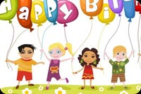 Birthday email backgrounds. Kid's Birthday