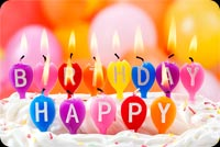 Best Wishes Happy Birthday Candles Background