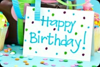 Birthday email backgrounds. Blue Theme Birthday Party