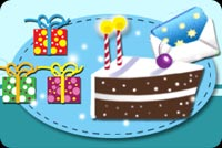 Birthday Cake And Gifts For You. Background