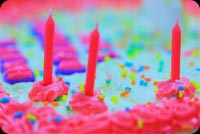 Pretty Pink Birthday Cake Background