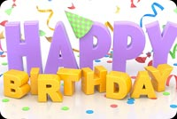 Happy Birthday 3d Text Background