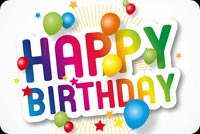Happy Birthday Sticker & Balloons Background