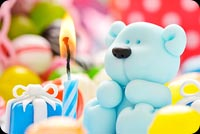 Happy Birthday Baby Blue Bear Background