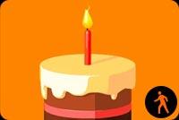 First Birthday. Yummy Cake Background
