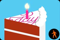 Birthday Cake Blowing Candles By Mslk Background