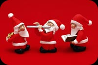 3 Santa Clauses Background