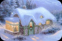 Beautiful Christmas House Background