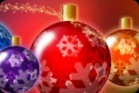 Merry Colorful Christmas Background