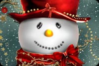 Cute Christmas Snowman Background