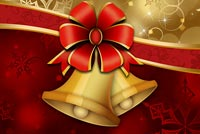 Christmas email backgrounds. Golden Xmas Bells