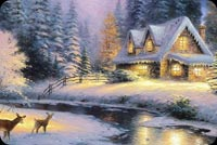 Christmas Painting Background