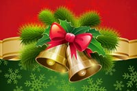 Happy Holidays Christmas Bells Background