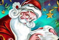 Santa Claus Naughty Or Nice Background