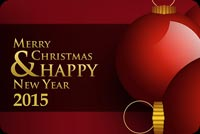 Merry Christmas & Happy New Year 2015 Background