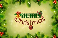 Christmas Green Frame Background