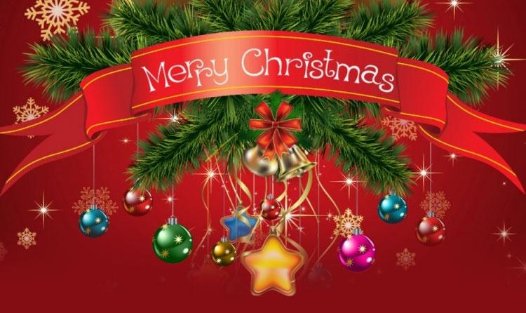 Christmas email stationery (stationary): Merry Christmas Ribbon ...