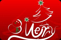 Christmas email backgrounds. Bright & Joyful Christmas