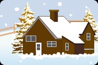 Sweet Home At Christmas Background