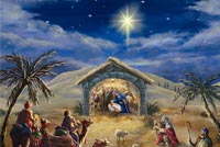 The Christmas Nativity Background