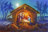 Wishing You A Blessed Nativity Background
