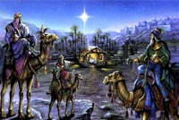 Wish A Blessed & Joyful Christmas Background