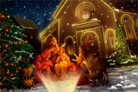 Nativity Scene Pictures Background