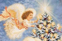 Christmas Angels Background