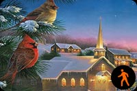 Silent Christmas Night Background