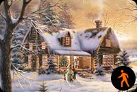 Animated Merry Christmas To All Background