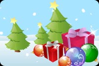 Christmas Trees And Wishes Background